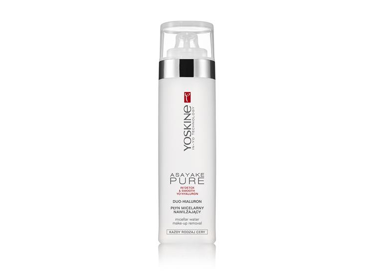 Мицеллярная вода с удвоенной формулой гиалуроновой кислоты для снятия макияжа с лица и глаз.