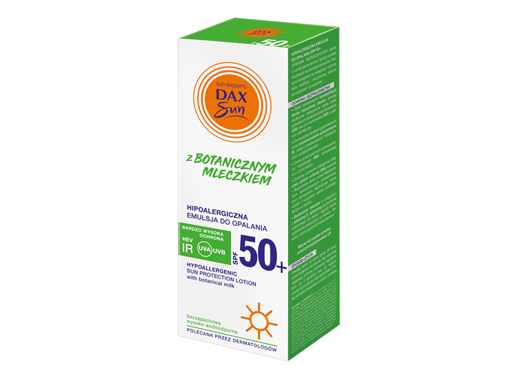 Hipoalergiczna emulsja do opalania  SPF 50+ z botanicznym mleczkiem