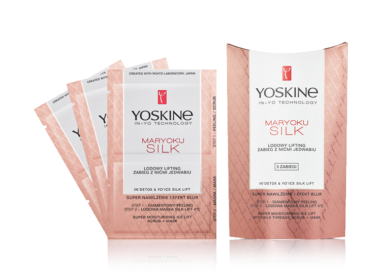SUPER MOISTURISING ICE LIFT WITH SILK THREADS SCRUB + MASK