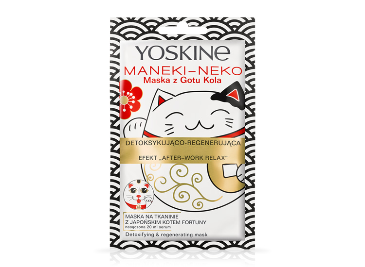 Maneki-Neko Detoxifying & Regenerating mask with Gotu Kola 'After-work relax' effect
